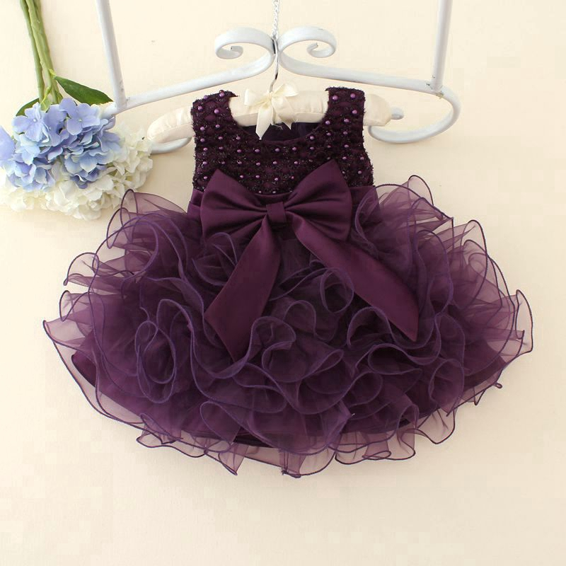 Toddler Baby Girls Christening Birthday Party Baptism Tutu Flower Girl Dress