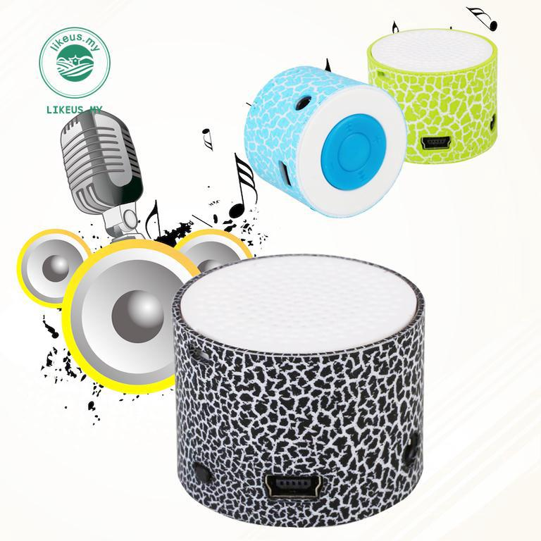 Mini Rechargeable Speaker Crack Pattern TF Card MP3 Music