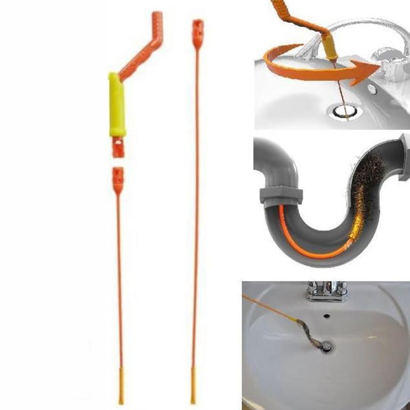 Hair Anti-clog Remover Cleaning Tool Kit Flexible Drain For Shower Sink Bathtub