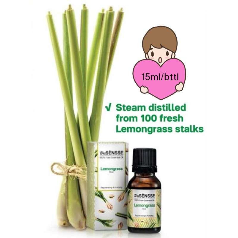 Tupperware truSENSSE 100% Pure Essential Oil --Lemongrass 15ml