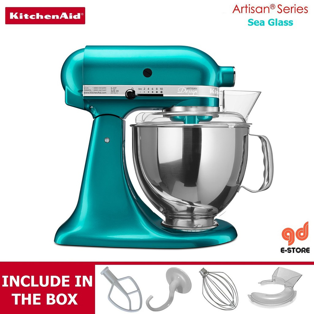 Awesome Kitchenaid 5 Ksm150Ps Stand Mixer Sea Glass New Color Home Remodeling Inspirations Propsscottssportslandcom