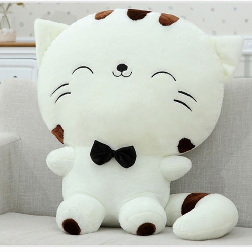 Hot Sale 80cm Include Tail Cute Big Face Cat Plush Stuffed Toys Pillow Birthday Gift Kid Doll Pillow Cushion Fortune Cat Doll Toys & Hobbies Stuffed & Plush Animals