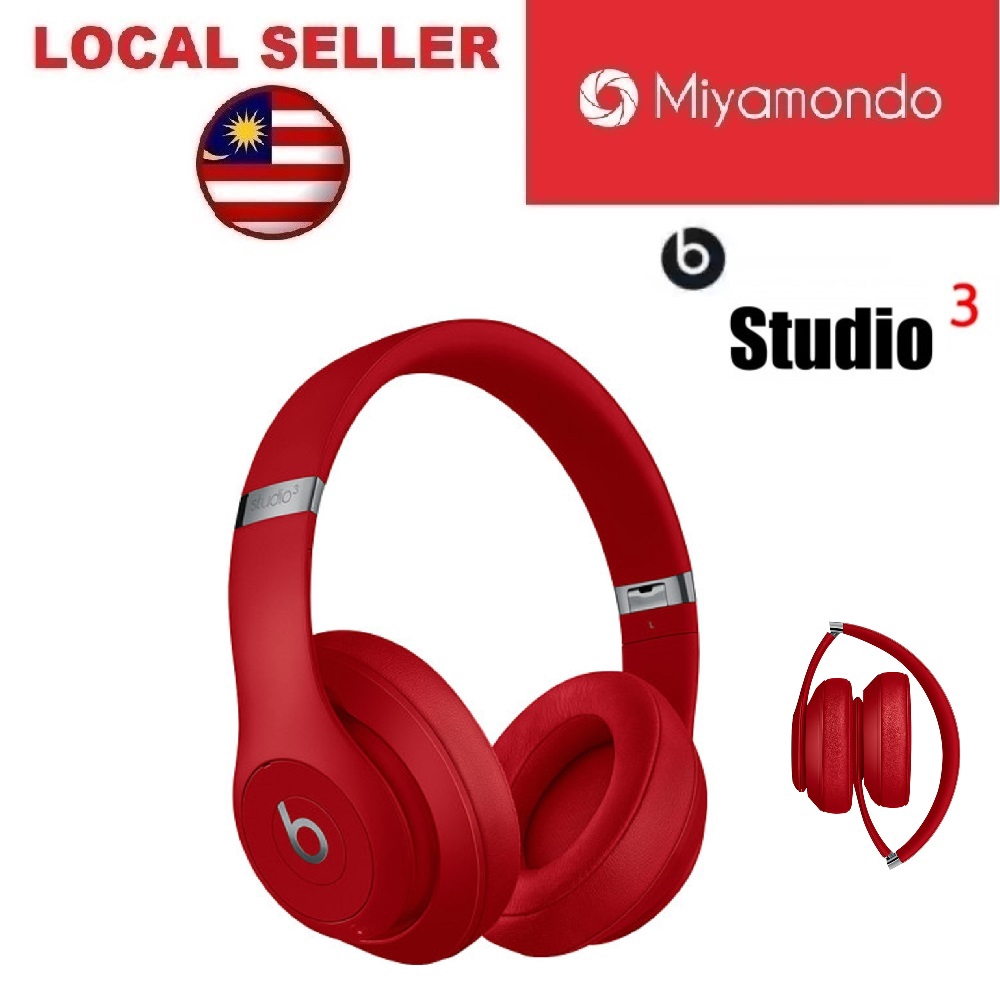 Beats Studio 3 Wireless Over Ear Headphone Red Shopee Malaysia
