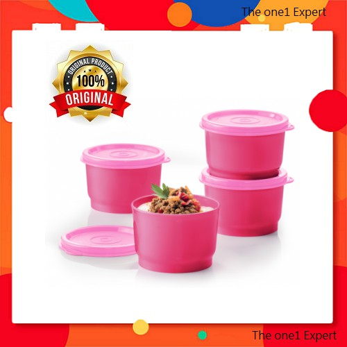 Tupperware Steam It (Pink) with gift box /steam-able snack cup