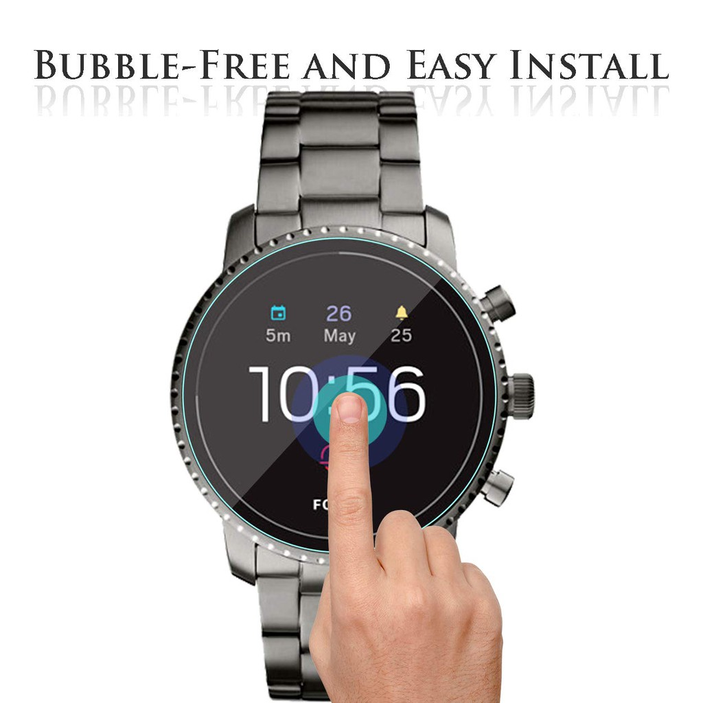 Bubble-Free 2.5D 9H Hardness Tempered Glass Screen Protector for Ticwatch Pro Smartwatch Anti-Scratch Perfectly Fit Diruite 4-Pack for Ticwatch Pro Screen Protector
