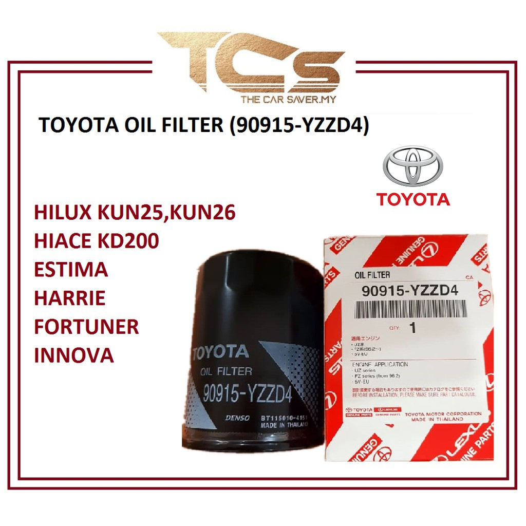 TOYOTA OIL FILTER (90915-YZZD4)