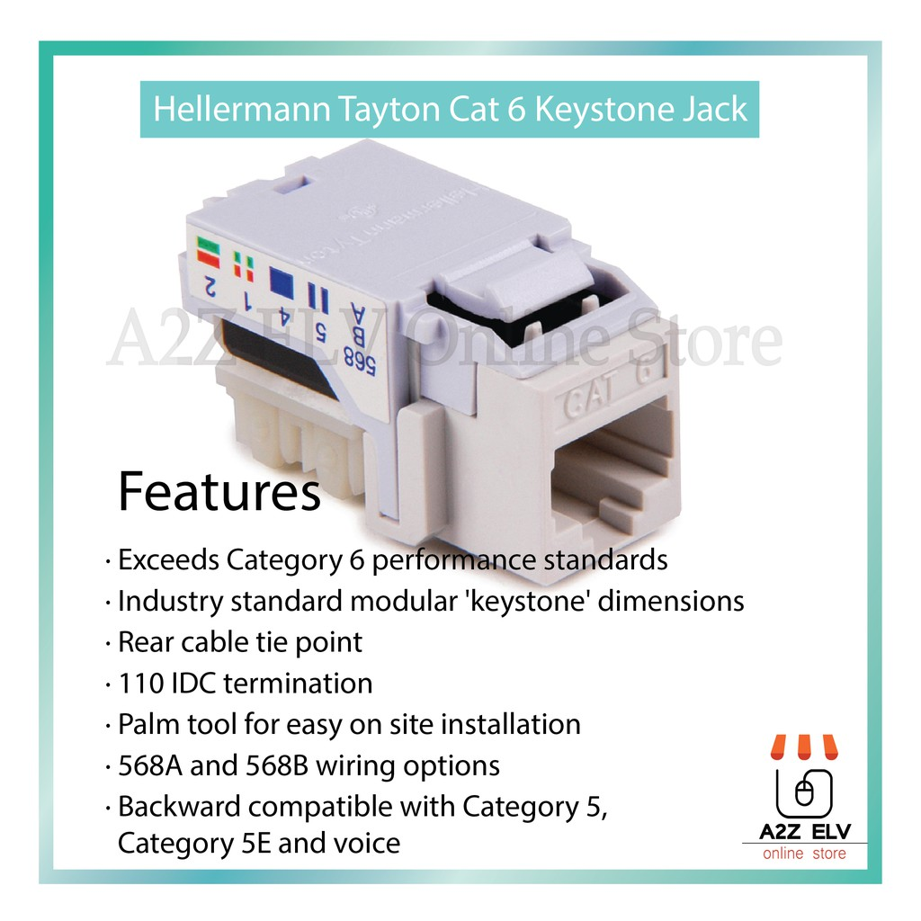 Hellermann Tyton Cat 6 Keystone Jack