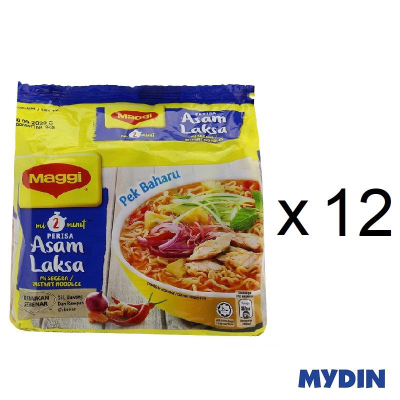 Maggi Instant Noodles - Asam Laksa (5 x 78g)-Pack of 12