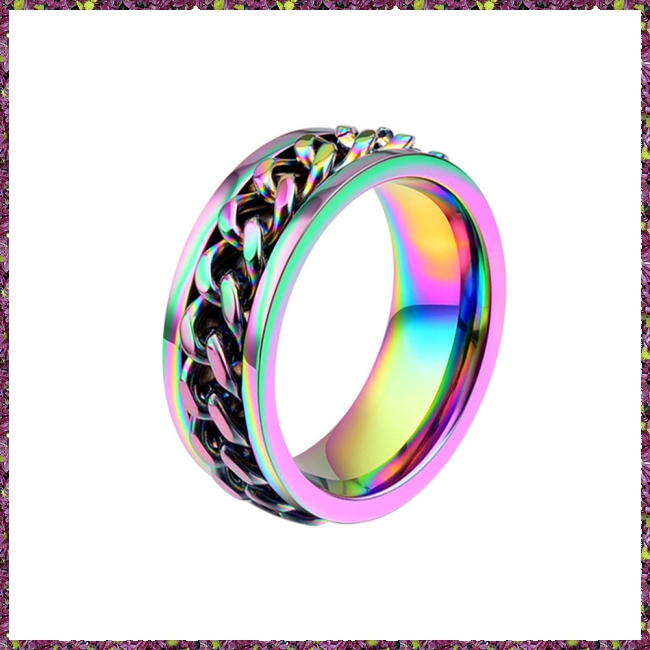 f5782934af ProductImage. ProductImage. Men Fashion Punk Jewelry Colorful Chain Titanium  Steel Rings