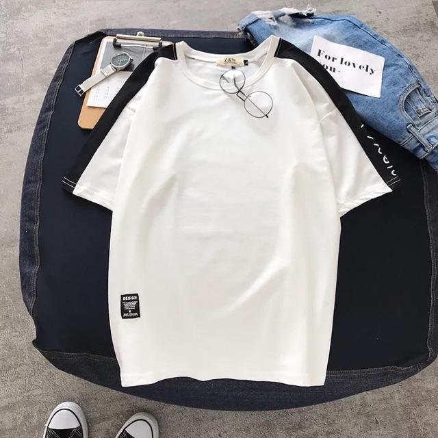 [M~3XL]Men Clothing Korean matching half-sleeved Men t-shirt 新款夏季潮短袖t恤男士打底衫韩版拼色上衣服半袖体恤潮流TEE