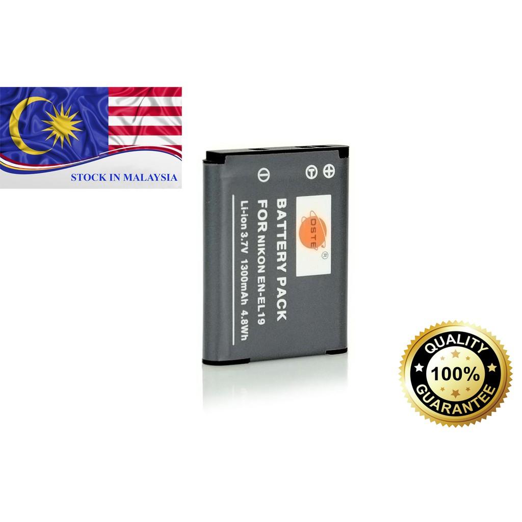 DSTE ENEL19 EN-EL19 Battery For Nikon (Ready Stock In Malaysia)