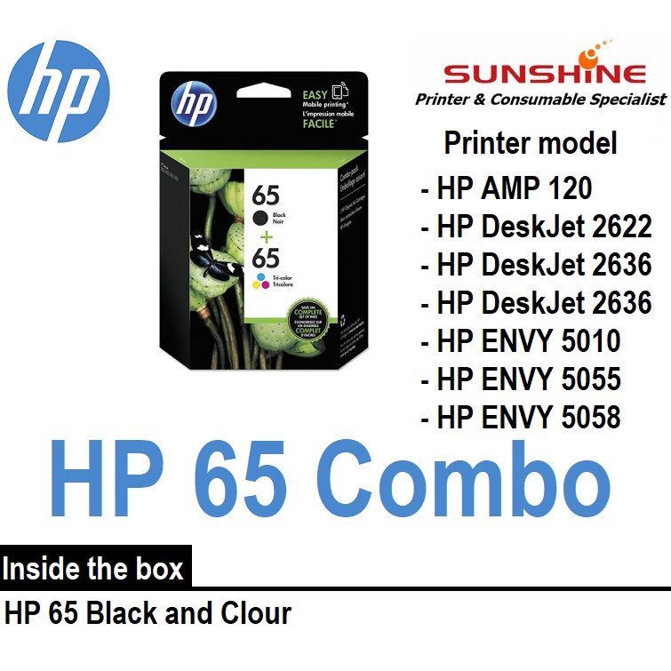 HP 65 Original Ink Cartridge For HP Deskjet 2622 Printer