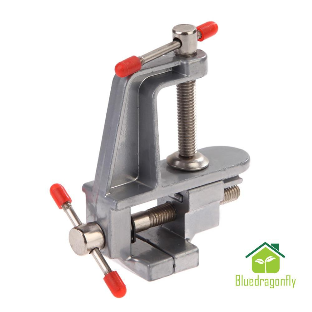 Small Adjustable Miniature Clamp on Table Vise Aluminum Bench Vice Repair Tool