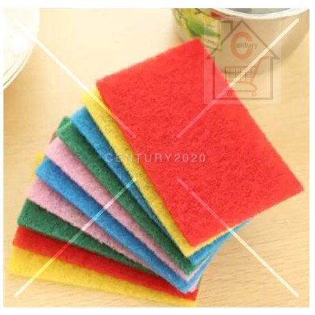 RIMEI Kitchen Cleaning Scrub Sponge Scouring Pads Non-Scratch Pads for Dishes Cleaning Colourful