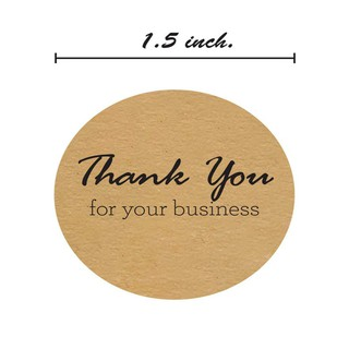 1 5 Inch Round Kraft Thank You For Your Business Stickers/500 Labels