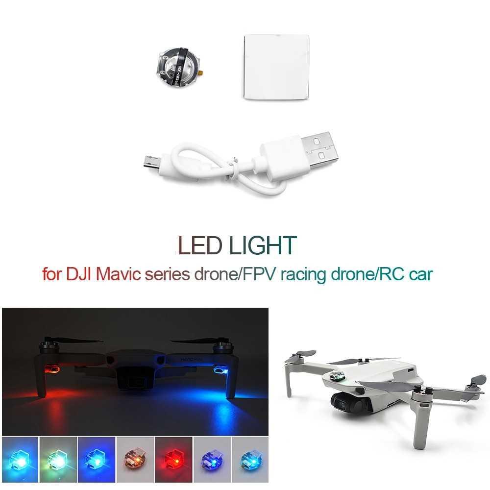 For Mavic Series Drone Mavic Mini RC Drone RC Car 1pcs Led Light Signal Light Warning Light 7 Colors Flashing Various F