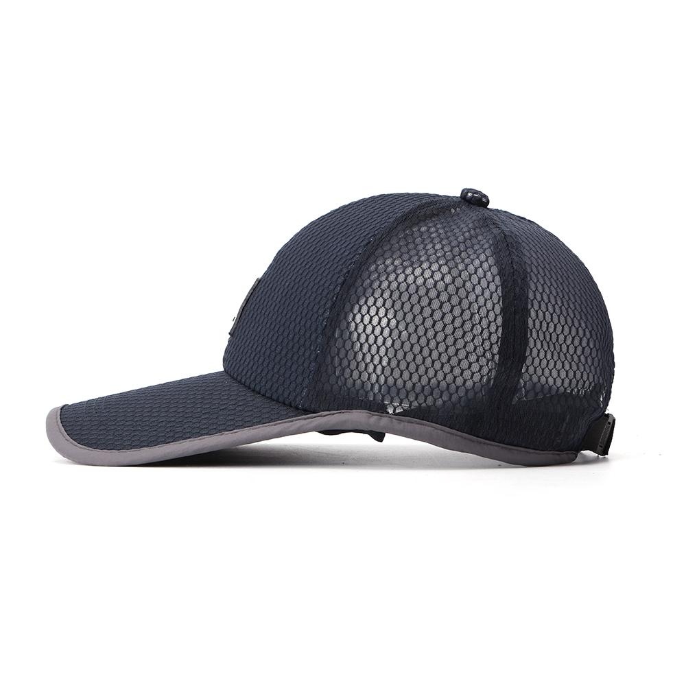 8906e49e532512 Men Summer Cotton Mash Breathable Baseball Hat Outdoor Casual Sunscreen Hat
