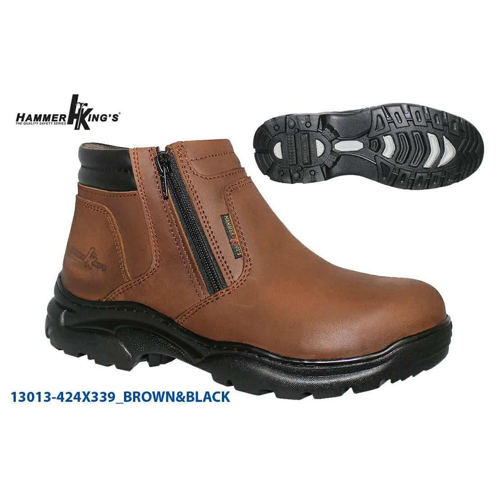**Promotion** Hammer King Genuine Leather Safety Shoes Model 13013