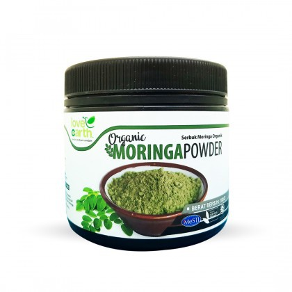 Love Earth Organic Moringa Powder 185g 乐儿有机辣木叶粉 185公克 (罐装)