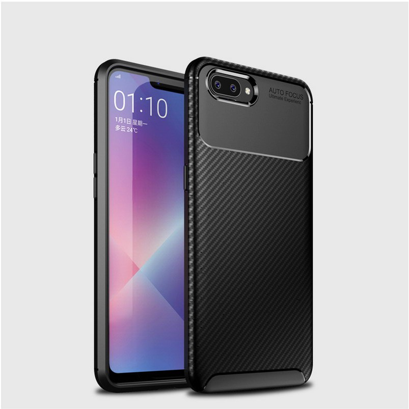 OPPO A5 Soft Silicone Cover Carbon fiber pattern case OPPO A5