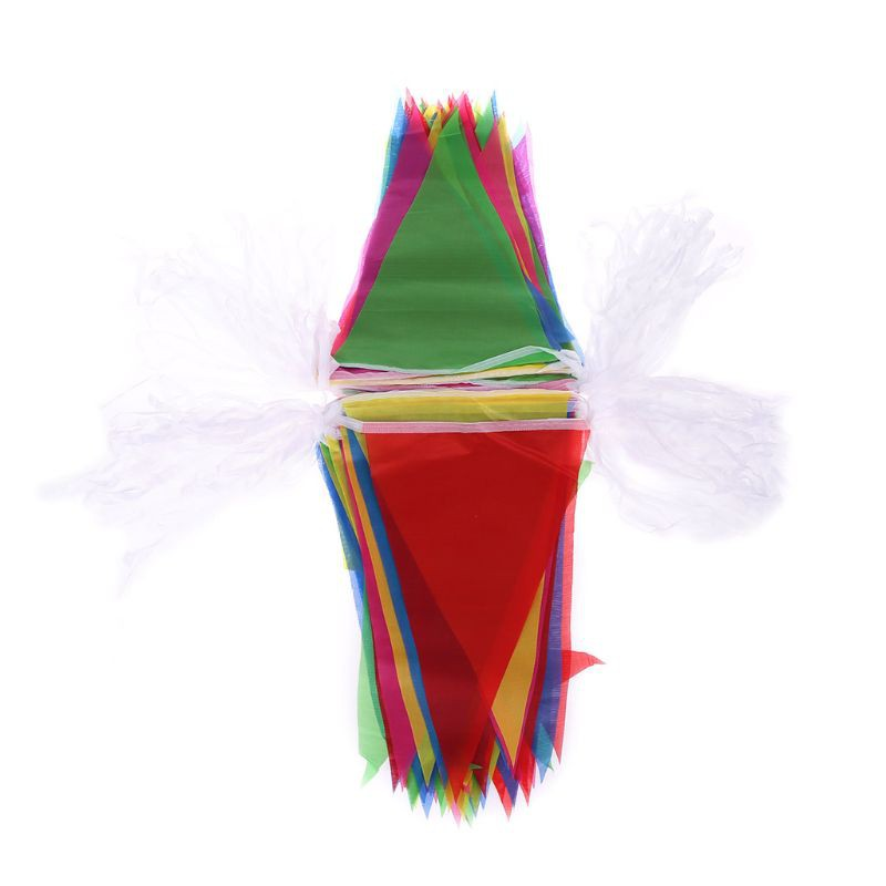 150pcs 80m Colorful Triangle String Flag Pennant Banner Festival Party Decor