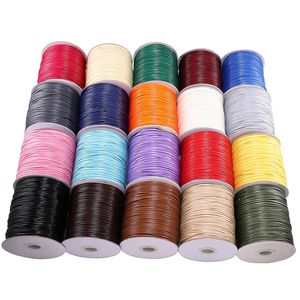 2mm Waxed Cotton Cord 10m to 50m Jewellery Craft Making Bracelet Necklace String