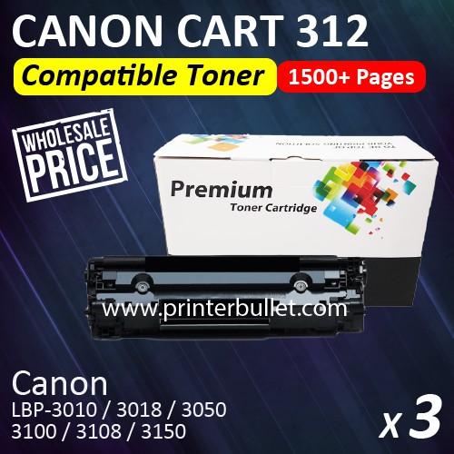 3 unit Canon 312 / Canon Cartridge 312 High Quality Compatible Toner Cartridge