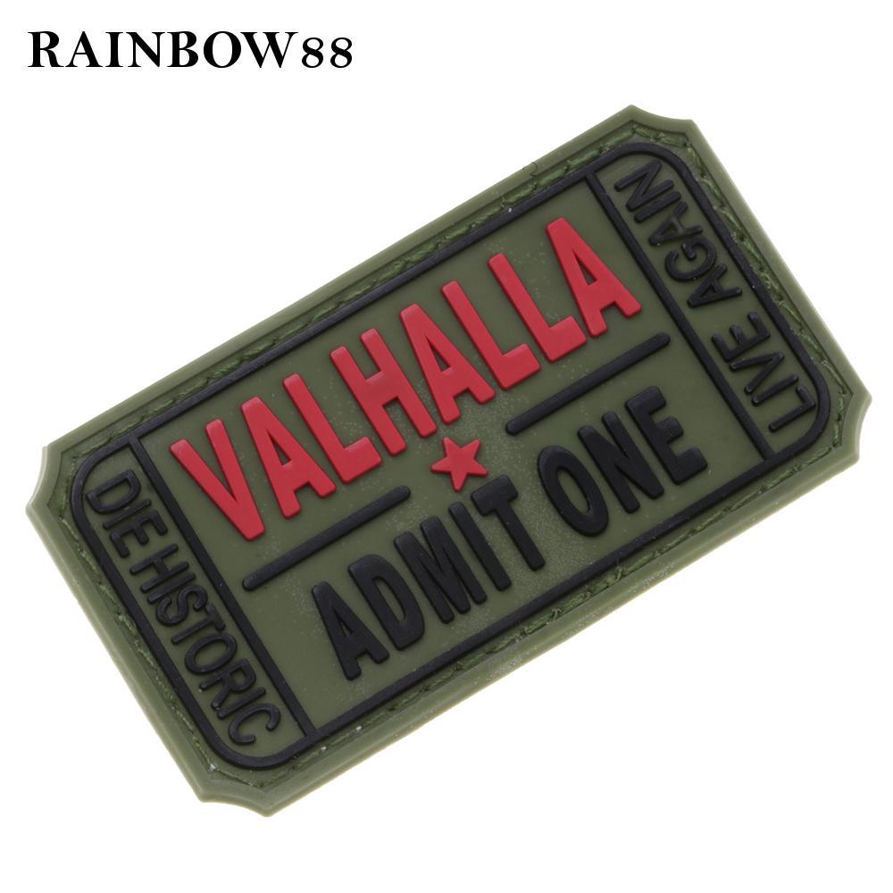 VALHALLA ADMIT ONE PVC Arm Patch Armband Applique Shoulder Badge Emblem Craft