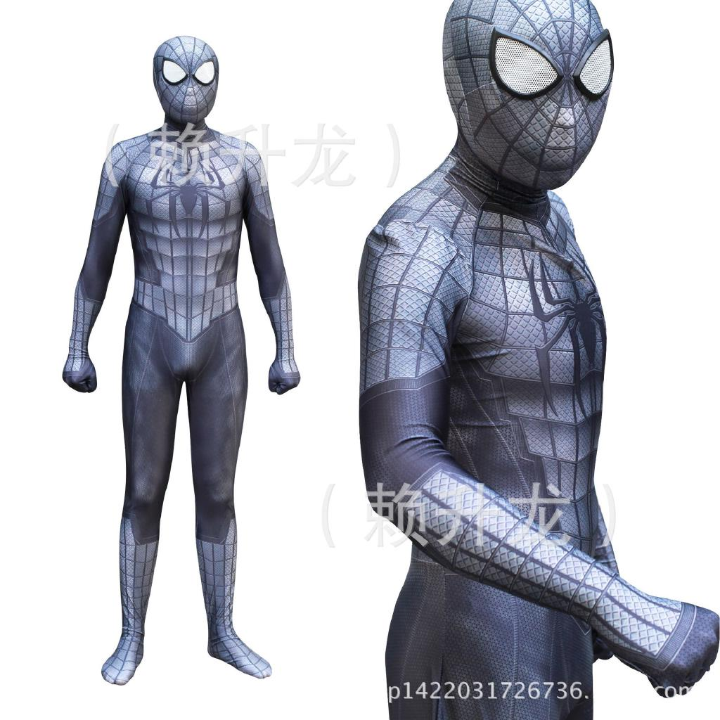 Black Venom Spiderman COSPLAY Costume Spider-Man Muscle Zentai Halloween Suit