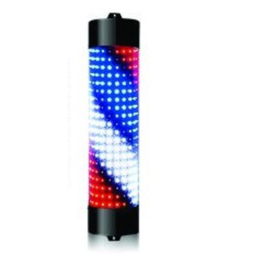 BARBER POLE LED LIGHT ROTATING SALON LAMP