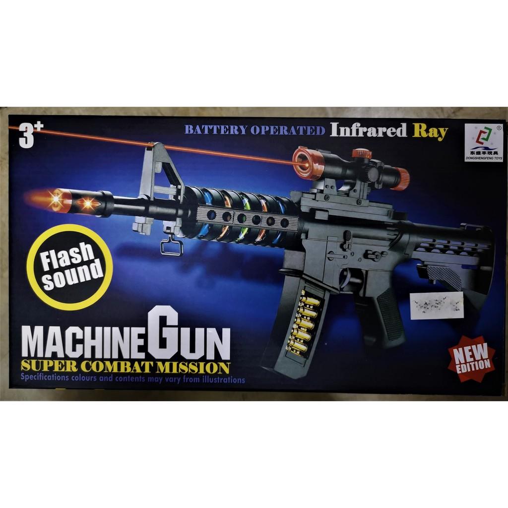 Machine Gun With Flash Sound And Infrared Ray Shopee Malaysia