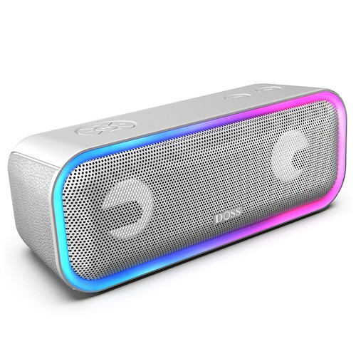 DOSS BT 20 SoundBox Pro Plus Bluetooth Speaker With DSP Technology, Powerful Extra Bass & Party LED Lights
