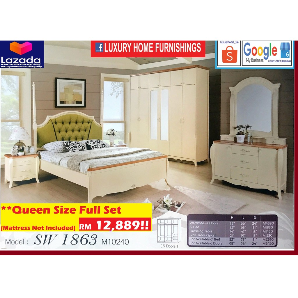 Bed Room Set, 6 Doors, Luxury Series