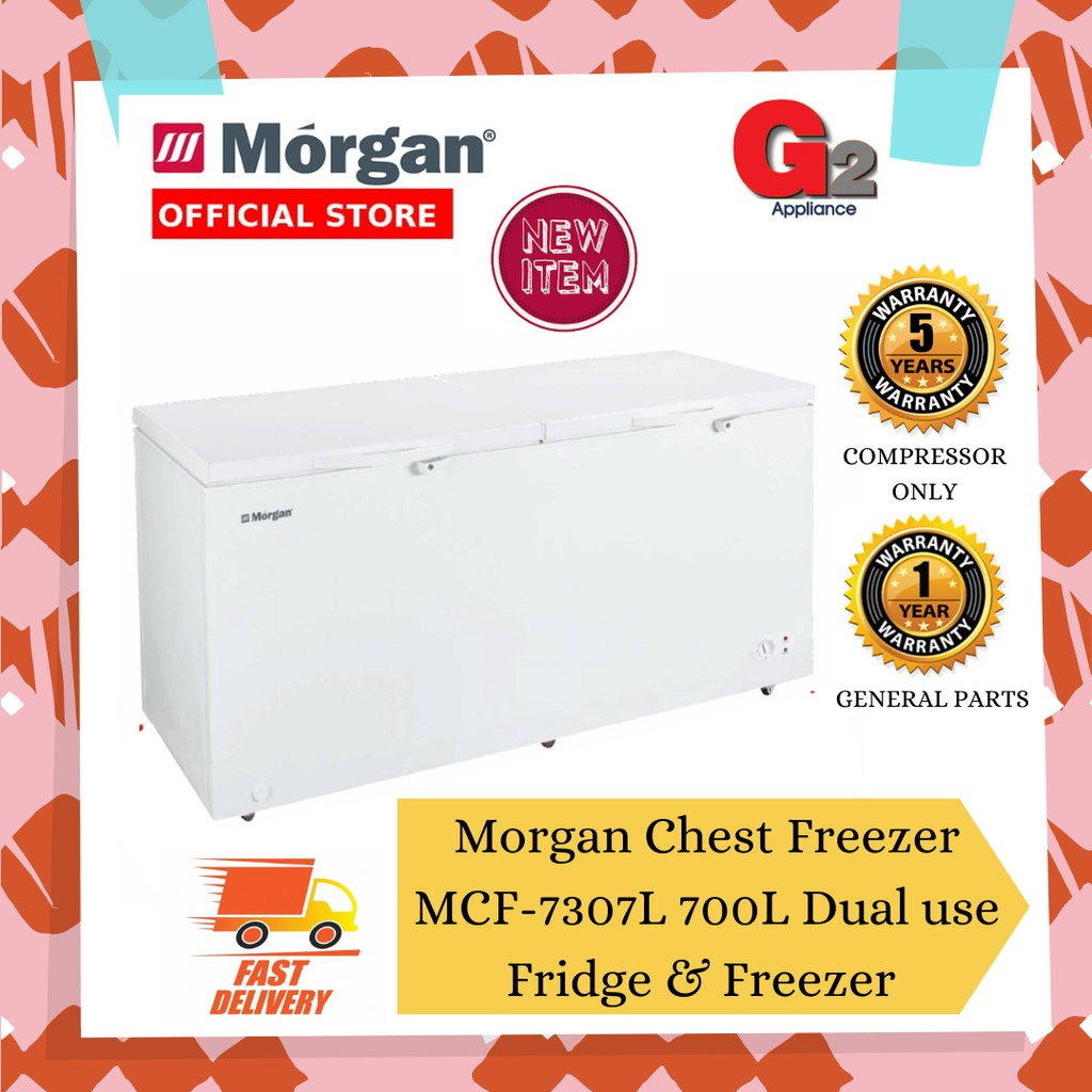 Morgan Chest Freezer MCF-7307L 700L with Dual Function Fridge & Freezer