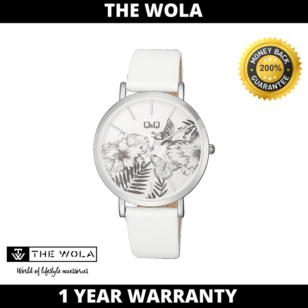 Q&Q Japan by Citizen Ladies Leather Analogue WatchQA20