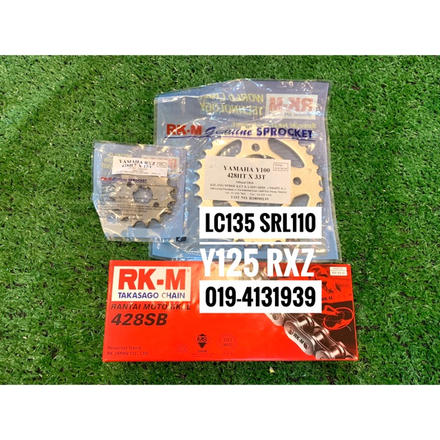 Sprocket RKM LC135/Y125/SRL110/RXZ 428 (full set)