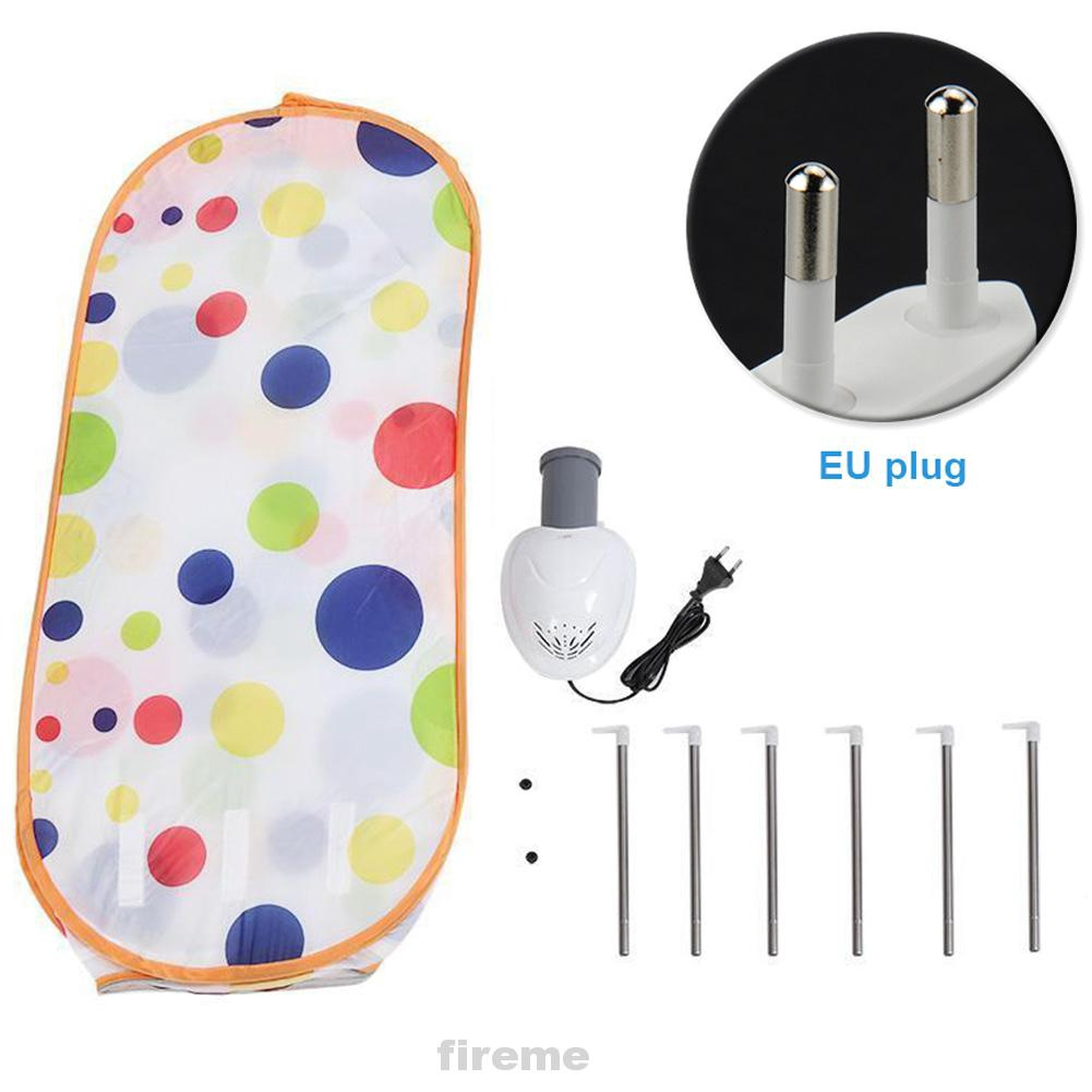 Laundry Dorm Household Sterilization Low Noise Dot Printed Heighten Portable Foldable Fast Drying Electric Clothes Dryer