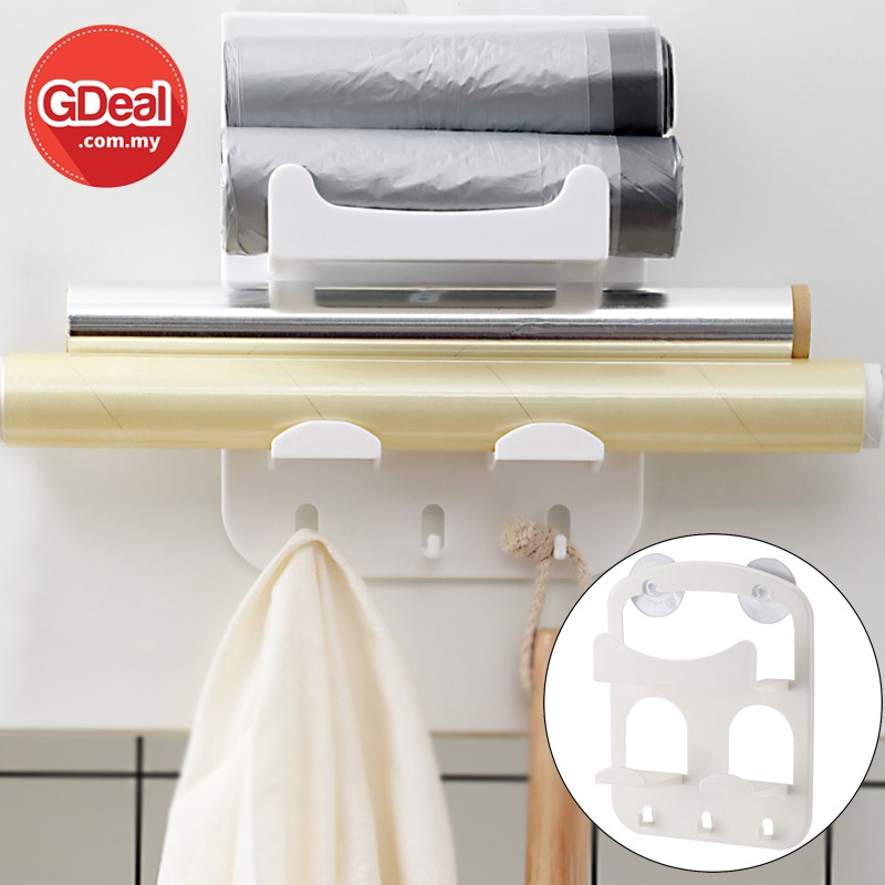 GDeal Double Suction Cup Multi-purpose Rack Hanging Wall Shelf Storage Organizer Rack