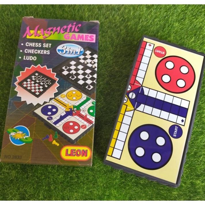 Mini 3 in 1 Magnetic Game