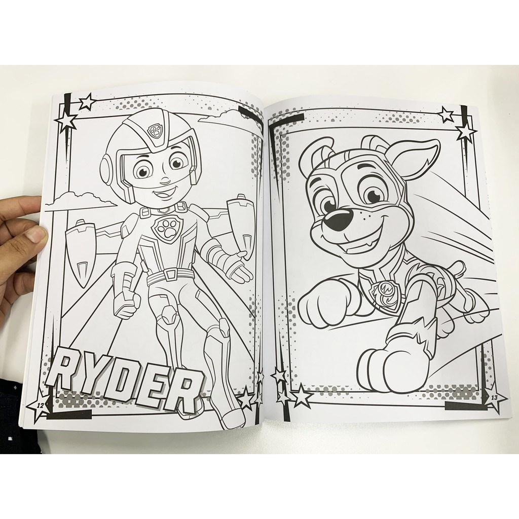 Paw Patrol Mighty Pups Deluxe Colouring Book For Children With Activities Mazes 48 Pages Shopee Malaysia