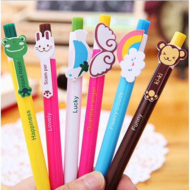 Unicorn 10 colour wings ballpoint pen happy 0.5 multi-function Cute study school