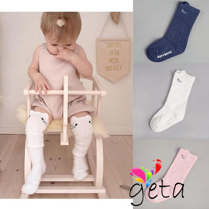 Toddler Kid Baby Girl Knee High Long Socks Bow Cotton Casual Stockings 0-4Y SO