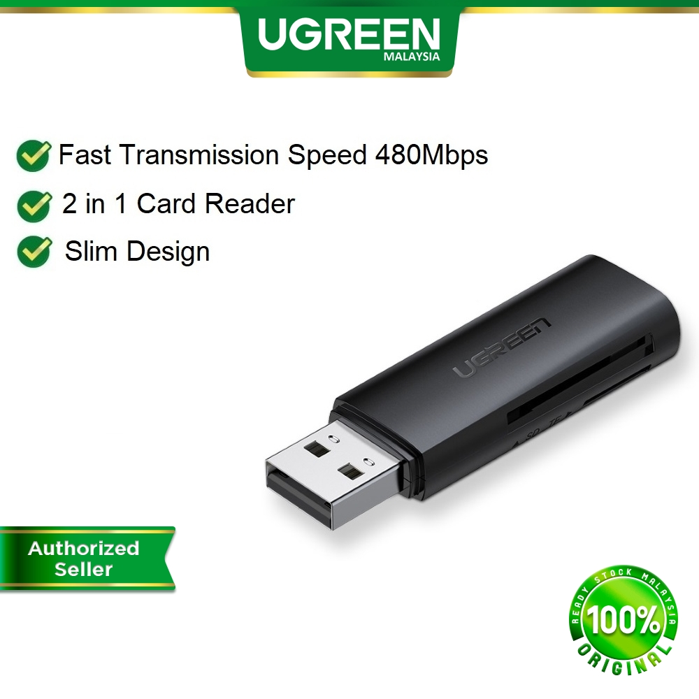 UGREEN 62MM Card Reader USB 3.0 to SD Micro SD TF Memory Card Adapter for laptop Accessories Multi Smart Card Reader