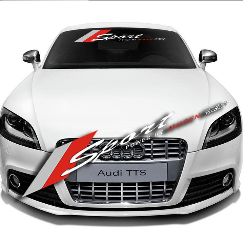 Car Front Reflective Windshield Decal Window Banner for MAZDA RACING Sticker