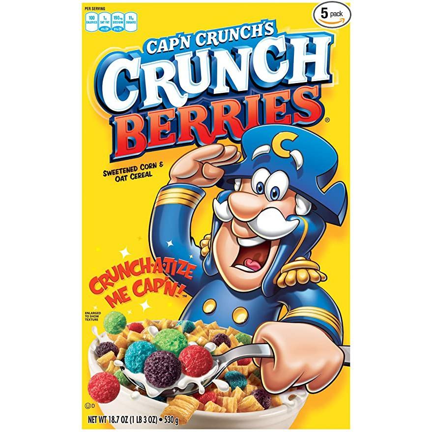 Cap'n Crunch Breakfast Cereal, Crunch Berries, 13 oz Box
