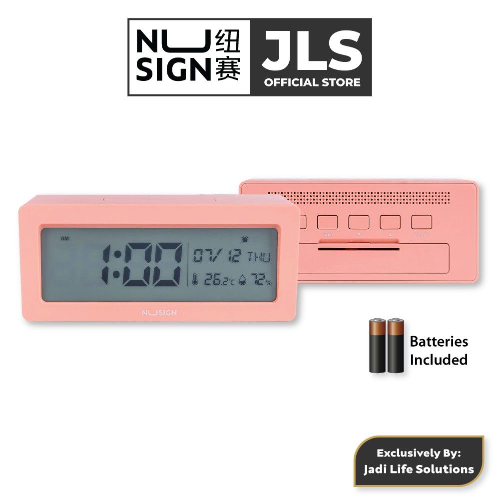 Jadi Nusign Smart Alarm Clock in Rose Pink