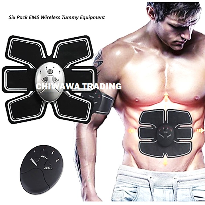 Beauty Body Mobile Gym 6 Pack EMS Electrical Pulse Firming Muscle Stimulation ABS Abdomen Fitness Training1