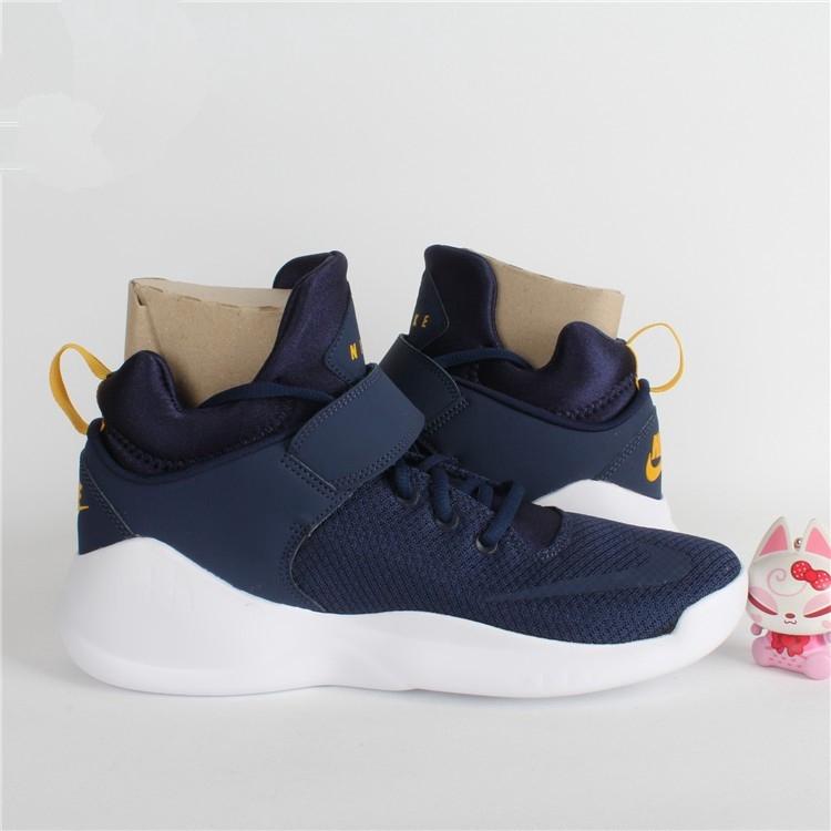 Ready Stock Nike Kwazi Running Shoes Youth Trend Fashion Shoes Blue White
