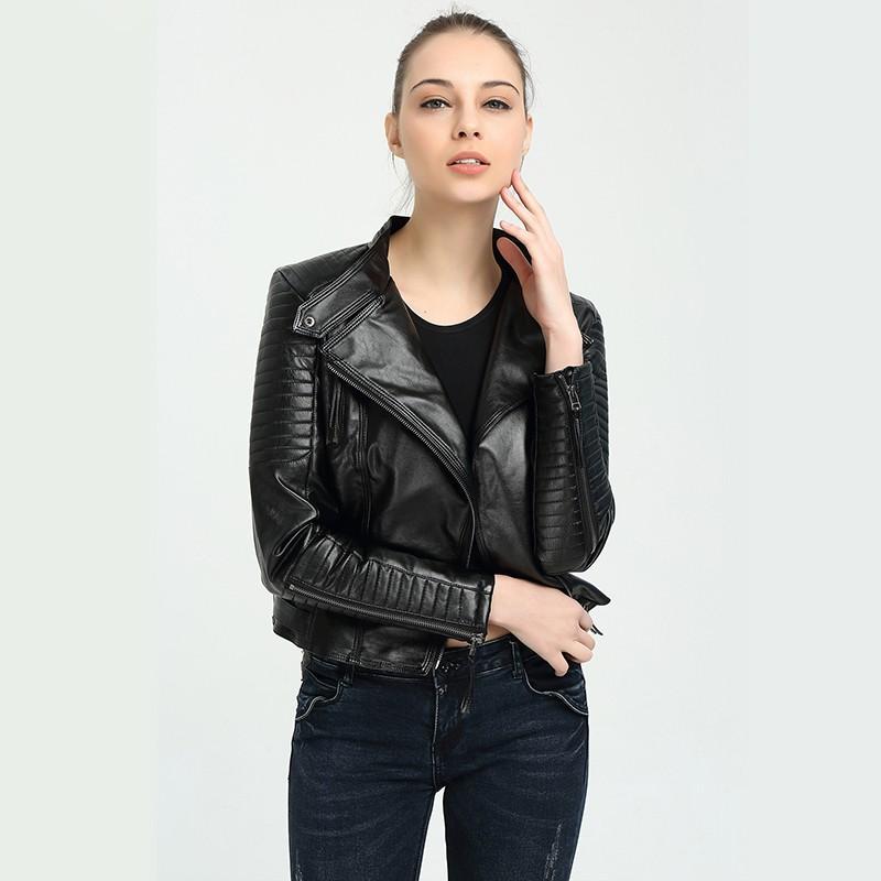81e99458e Jacket New Fashion Motorcycle Leather Clothing Women Slim PU