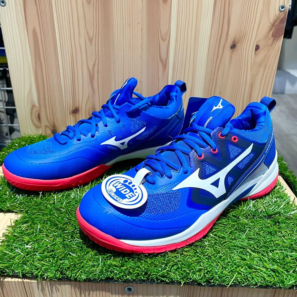 Mizuno Wave Fang Nx Badminton Shoes 71ga205 Blue / Platium | Shopee Malaysia